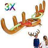 Saver 3 set bambini Santa gonfiabile divertente corna di renna anello cappello lancio Natale forniture vacanza party game giocattoli