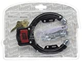 Bottari Bike Security Cable Pad Lock with Key Super Tough - Black