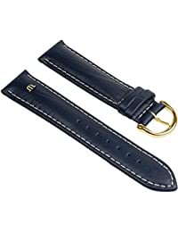 Maurice Lacroix buffalo calf-Chrono Replacement Band Watch Band Leather Kalf Strap - color variants 25621G, colours:blue