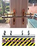 Ironmongery World Patio Double French door sliding Deadlock bolt Intruder Lock for extra security