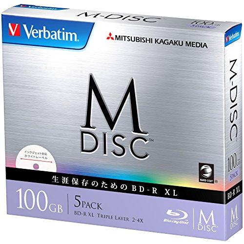 Preisvergleich Produktbild 1000Jahre Archivierung Verbatim m-disc Blu-ray BDXL-Datenträger 100GB Triple Layer 4x Speed–5PACK, das für bedruckbar