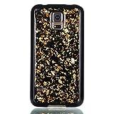 adorehouse per Samsung Galaxy S5 i9600 Copertina Sottile Cristallo Morbido Antiurto Lucido Conchiglia Ultra Magro in Forma Anti-graffio Morbido Copertina TPU Protettivo Flessibile Conchiglia - d'oro