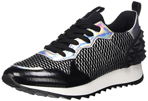 Cult Cream Scarpe Low-Top, Donna, Nero (Black/Silver), 37