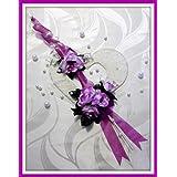 Tischdekoration lila-cremeTischdeko Hochzeit Kommunion Konfirmation
