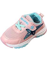Alaso Chaussures Bébé Zapatillas de fútbol para niños y niñas, color negro rosa X-Large