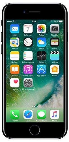 51U3MYuPUdL - iPhone 7 128GB Diamant Schwarz Jet Black Retina HD Wide iOS10 A10 Quad-Core