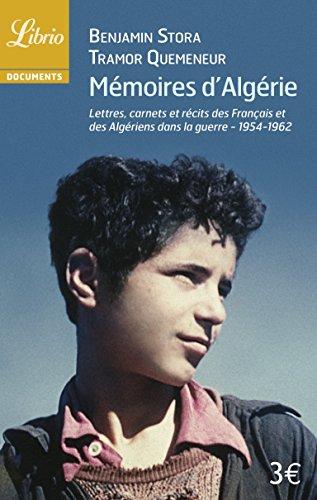 Memoires d'Algérie par Stora Benjamin