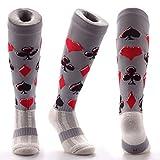Samson Hosiery ® BLACK JACK Print Funky Novelty Fashion Gift Socks Football Rugby Sports And Casual Knee High Socks For Men Women Kids Unisex