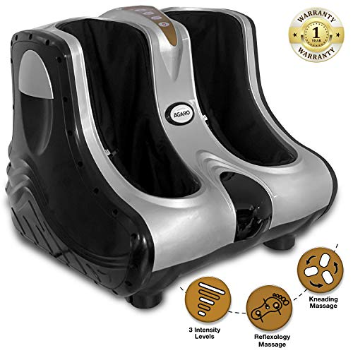 AGARO Amaze Foot Massager 80W with 3 Speed Settings (Silver)