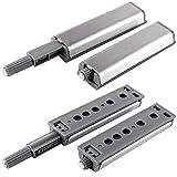 Anladia 10er Silber Druckschnapper Magnetschnapper Push to Open Türöffner mit magnetischer Zuhaltung Türschnapper