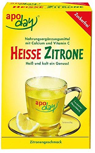 Vitamin C Zitrone (Apoday Heisse Zitrone zuckerfrei Beutel, 10 St.)