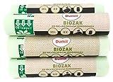 72 pièces Bio sacs poubelle 20L 45 x 50 cm, DIN EN 13432, compostable, indéchirable, BIOM Absorbeur 20 L