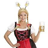Diadema Oktoberfest Banda del pelo cerveza Decoración jarra de cervecera Adorno cabeza gracioso Complemento cabello birra Accesorio disfraz Baviera