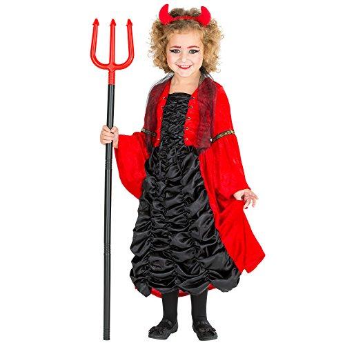 Aufwendiges Kinder Barock Kleid Süßes Teufelchen Kostüm inkl. Teufelshörner (5-7 Jahre | Nr. (Ideen Kostüme Halloween Gute Für Paare)