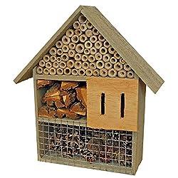 proheim Insektenhotel 30 cm Bienenhotel aus Naturmaterialien Insektenhaus aus 100% FSC Holz Unterschlupf für Bienen, Käfer, Wespen und Schmetterlinge