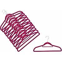 Magic Kleider-Buegel Smart - 12 grucce salvaspazio e antiscivolo per abiti, colore ROSSO