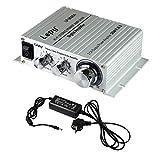 LEPY LP-2020A 20W Class-T Hifi Ampli/Amplificateur audio stéréo digital + adaptateur 5A pour iPhone, ordinateur, joueur audio etc.