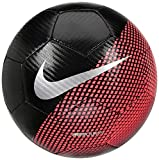 Nike CR7NK prstg Pallone Línea Cristiano Ronaldo, Unisex Adulto, Unisex Adulto, SC3370, Nero/Cremisi (Flash Crimson)/Argento, 5