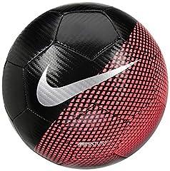 Idea Regalo - Nike CR7NK prstg Pallone Línea Cristiano Ronaldo, Unisex Adulto, Unisex Adulto, SC3370, Nero/Cremisi (Flash Crimson)/Argento, 5