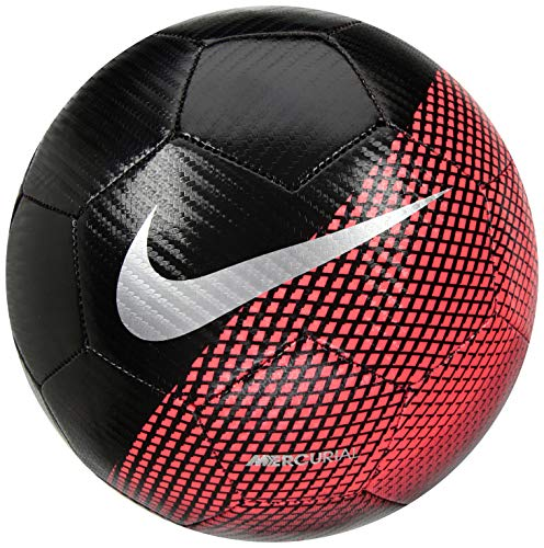 Nike CR7 Prestige Fußball, Black/Flash Crimson/Silver, 5 (Prestige Nike)