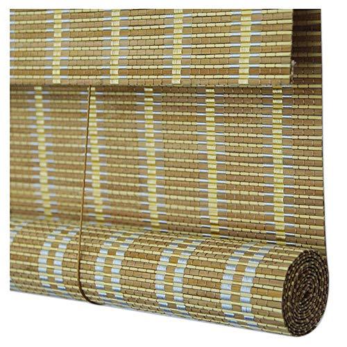 Shading Bambus-Bildschirm, Bambus-Jalousien/Roman Roller Shades, Indoor-Screen Curtain Library Shade, 3 Farben, Mehrere Größen Erhältlich, MTX Ltd, c, 100x200CM -