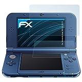 Nintendo New 3DS XL (2015) Schutzfolie - 3er Set atFoliX FX-Clear kristallklare Folie Displayschutzfolie