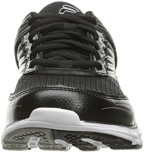 Fila Memory Maranello 4 Hommes Synthétique Chaussure de Course Black - Black - Metallic Silver
