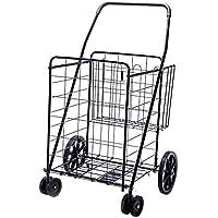 Lifestyle Solutions Carro de la Compra Plegable Jumbo Deluxe con Ruedas giratorias Dobles y Cesta Doble - ¡Capacidad mas de 90kg!
