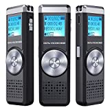 Best microphone vocal - Dictaphone Numérique,TENSAFEE 8GB Dictaphone,Rechargeable HD avec double micro Review
