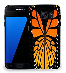 Snoogg butterfly 2759 Designer Protective Back Case Cover For Samsung Galaxy S7 Edge