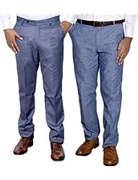 IndiWeaves Combo Offer Mens Formal Trouser (Pack Of 2) - B01JRWB1O0