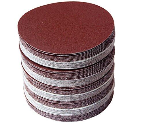 5 Zoll Disc Schleifpapier (20pcs 5 Zoll 125mm runde selbstklebende Sandpapier Scheibe Sand Blätter Haken & Schleife Schleifen Disc Grit 80-1000)