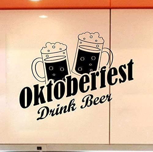 Bier - förmiger Herd und Wandsticker., Klebrige Aufkleber, die in Bars und Restaurants verwendet werden können, Küchendekoration