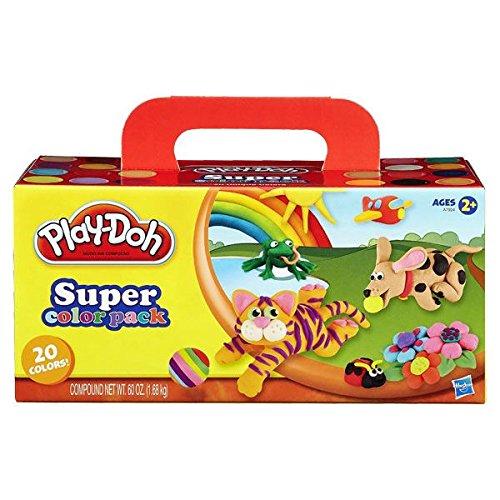 Hasbro Lot de 20 Pots de Pâte à Modeler de différentes Couleurs Play-Doh