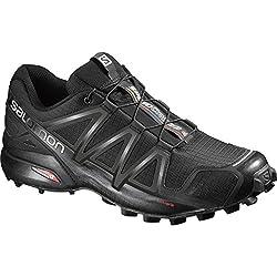 Salomon Men's Speedcross 4 Trail Running Shoes, Black (Blackblackblack Metallic), 10 12 Uk