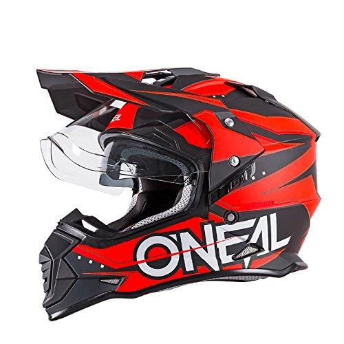 O'Neal Sierra II Helm Slingshot Orange Motorrad MX Moto Cross Offroad Dual Sport, 0817-20, Orange Größe Medium