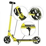 Keelied Big Wheel Scooter Cityroller Kickscooter Scooter Klappbar und Höhenverstellbar(78CM-93CM)für Erwachsene Junge Mädchen bis 90KG