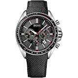 Hugo Boss Herren Analog Quarz Uhr mit Nylon Armband 1513087