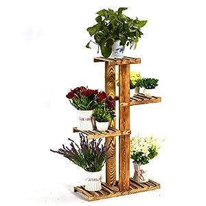 Blumenkasten Pflanztreppe Blumen Rack, Mehrstöckige Boden Töpfe Regal,  Wohnzimmer Hölzerne Blumen