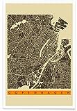 """JUNIQE® Poster 40x60cm Stadtpläne Kopenhagen - Design """"Copenhagen II"""" (Format: Hoch) - Bilder, Kunstdrucke & Prints von unabhängigen Künstlern entworfen von Jazzberry Blue"""