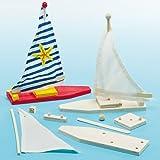 Baker Ross Kit Barca a Vela per Bambini da Creare, Decorare ed Personalizzare come Idea Creativa (confezione da 2)