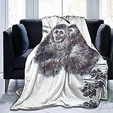 AAAshorts Manta de Forro Polar con diseño de Mono de Dibujos Animados, Ligera, Supersuave, acogedora, para sofá, Cama, Silla, 60 x 50 Pulgadas
