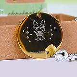 Hund Custom, Personalausweis benutzerdefinierte Beschriftung, Katze Hund halsband Karte, bell Halskette Marke Tag, Haustier Zubehör, Rund Gold, S-Klein