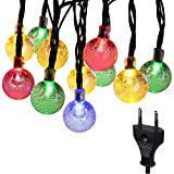 #6: Citra String Light 33 ft 38 LED Crystal Ball Outdoor String Lights Fairy Lights for Garden Home Decorations (Multi Color Crystal Ball)