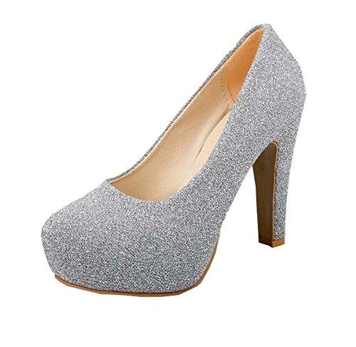 2016 Silber Heels Neue Mund High Flache Schuhe Nachtclub Damen zrgqwz8x