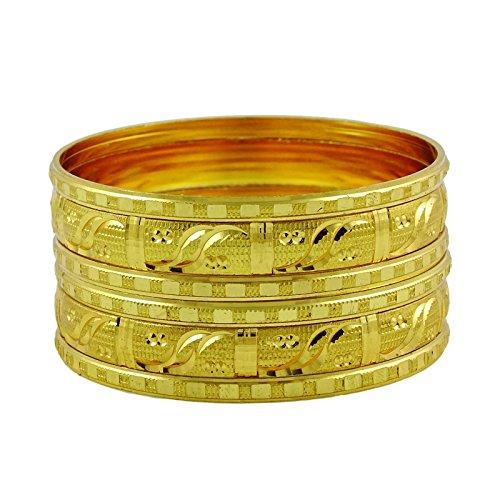 Banithani kada bangle cinturini di progettista partito regalo, gioielli etniche tradizionale per 2 *8, fede, colore: oro, cod. bsg2662d