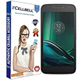 Cellbell TM Motorola Moto G4 Play (transparent) 9H Premium Tempered glass screen protector with FREE Installation Kit
