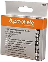 Prophete Fahrradkette Sport und Tourenrad-Kette 1/2 x 1/8 Zoll 112 Glieder für Narbenschaltung, 223