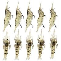 10pcs 4cm Biomimetic cebo de pesca del cebo suave Bionic Camarón de aparejos de pesca de cebo