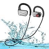 Casque Etanche Natation Bluetooth 4.1 Écouteurs Audio Sans Fil Sport IPX7 Etanche Siroflo U2 Oreillettes Bluetooth avec Micro Casque de Sport Ecouteur de Natation Connection avec Deux équipement Pour iOS Android(Noir)
